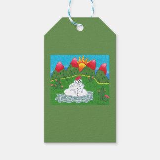 Juletiketter med snögubben presentetikett