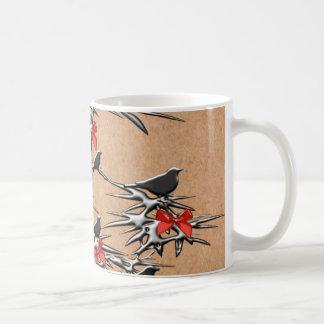Julfåglar och pilbågar kaffemugg