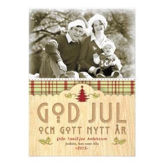 Julfamilj Hälsningskort Med Foto Invites