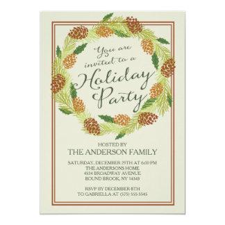 Julfest för klassikerPinecone kran 12,7 X 17,8 Cm Inbjudningskort
