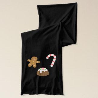 Julfester - pepparkaksgubbe, godis, pudding halsduk
