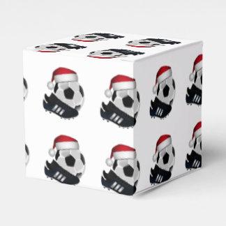 Julfotbollboll och skor presentaskar