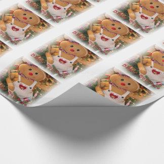 Julgåvasjal/glad helgpepparkaksgubbe presentpapper
