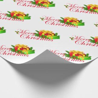 Julgåvasjal/god jul med gåvor presentpapper