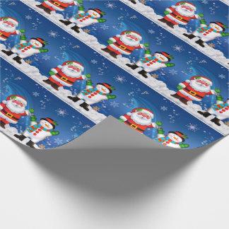 Julgåvasjal/Santa och snögubbe Presentpapper
