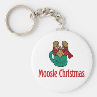 Julgåvor och T-tröja med julälg Rund Nyckelring