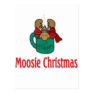 Julgåvor och T-tröja med julälg Vykort
