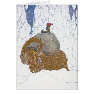 Julgeten Julbok av John Bauer Hälsningskort