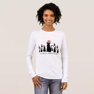 Julglädje med långärmadskjortan för 12 svarta t-shirts