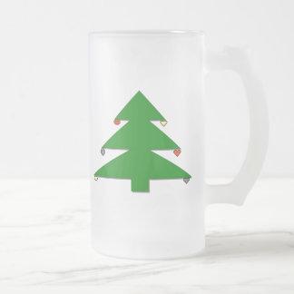 Julgran Frostat Ölglas