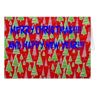 Julgran julkort hälsningskort