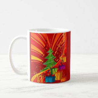 Julgran och presentermugg kaffemugg