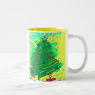Julgran Två-Tonad Mugg