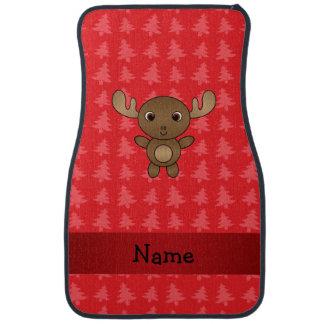 Julgranar för känd älg för personlig röda golvmatta