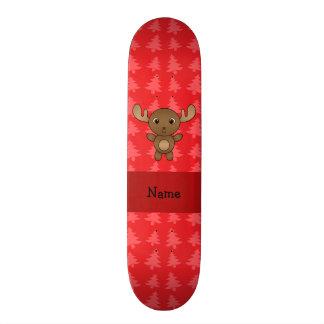 Julgranar för känd älg för personlig röda anpassningsbara skateboard