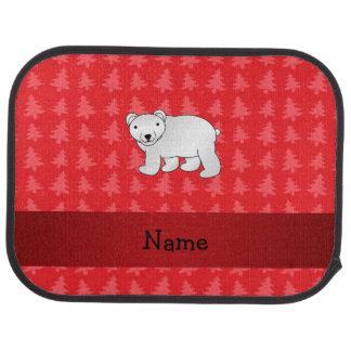 Julgranar för känd polar björn för personlig röda bilmatta