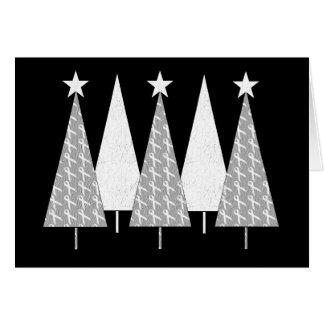 Julgranar - vitband hälsningskort