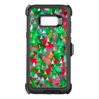 Julgranvattenfärgmönster OtterBox Defender Samsung Galaxy S8+ Skal