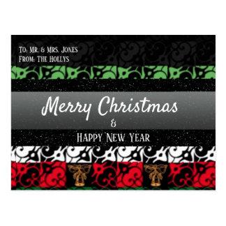 Julhälsningar chic fult för personlig vykortet vykort