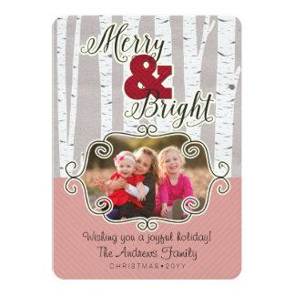 Julhälsningar det ljust fotokortet - som var glatt 12,7 x 17,8 cm inbjudningskort
