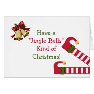Julhälsningar med älvaben hälsningskort