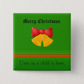 Julhälsningen knäppas standard kanpp fyrkantig 5.1 cm