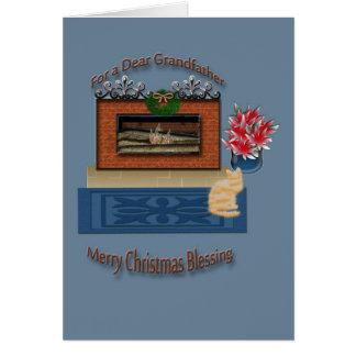 Julhälsningkort för farfar hälsningskort