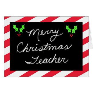 Julhälsningkort för lärare -- Blackboard Hälsningskort