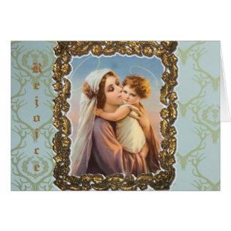 """Julhälsningkort """"Madonna och barn """", Hälsningskort"""
