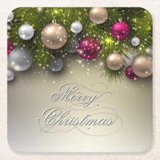 Julhelgdag - mång- färger för prydnadar underlägg papper kvadrat