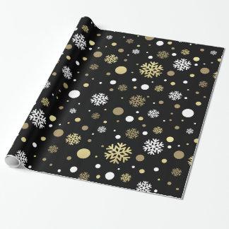 Julhelgdag - snöflingorBlk-bakgrund Presentpapper