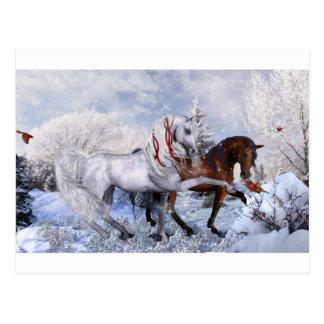 Julhelgdaghästar Vykort