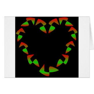 Julhjärta Hälsningskort