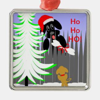 Julhundprydnad för husdjur eller hundägare julgransprydnad metall