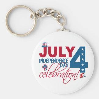 JULI 4 firandenyckelring Rund Nyckelring