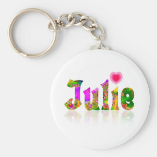 Julie Rund Nyckelring