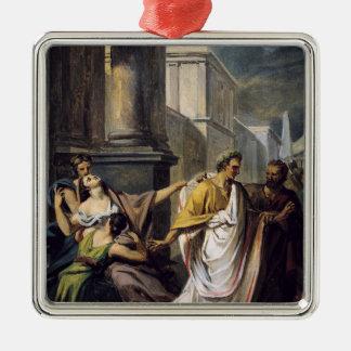 Julius Caesar på hans långt till senaten Julgransprydnad Metall