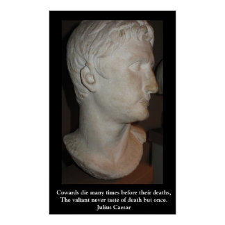 Julius Caesar QUOTATION PÅ en AFFISCH