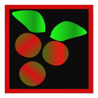 Juljärnek II Fyrkantigt 13,3 Cm Inbjudningskort
