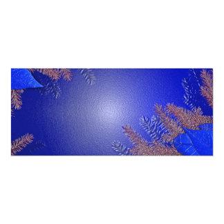 Juljulstjärnablått II 10,2 X 23,5 Cm Inbjudningskort