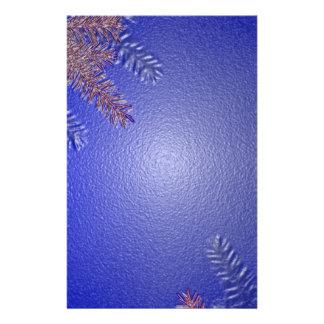 Juljulstjärnablått mig flygblad designs