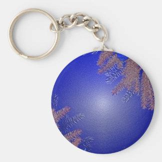 Juljulstjärnablått Nyckel Ring