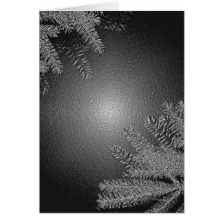 Juljulstjärnasvart och grå färg hälsningskort