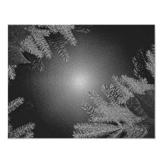 Juljulstjärnasvart och grå färg 10,8 x 14 cm inbjudningskort