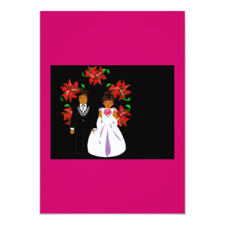 Juljulstjärnasvart och grå färg 12,7 x 17,8 cm inbjudningskort