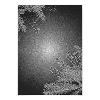 Juljulstjärnasvart och grå färg mig anpassade inbjudningskort