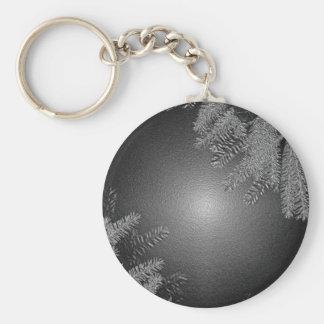 Juljulstjärnasvart och grå färg nyckel ringar
