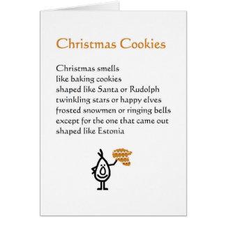 Julkakor - en rolig juldikt hälsningskort
