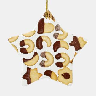 Julkakor! Stjärnformad Julgransprydnad I Keramik