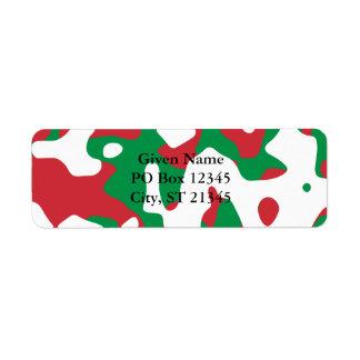 Julkamouflage Returadress Etikett
